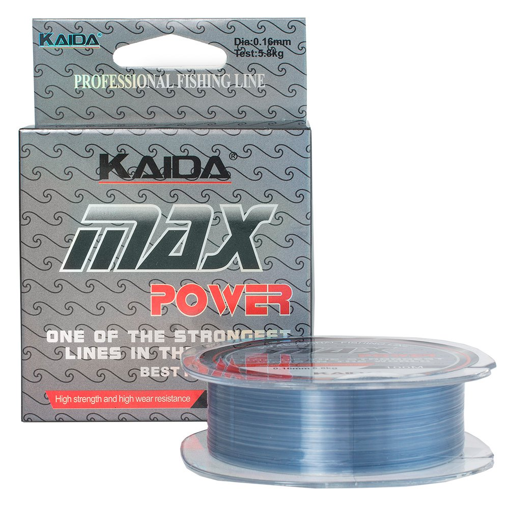 Монолеска Kaida Max Power 0,16 мм, 100 метров, 5,8 кг